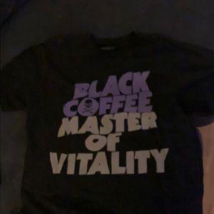 Black coffee master of vitality. Sabbath parody